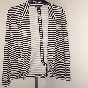 Black and white two button blazer